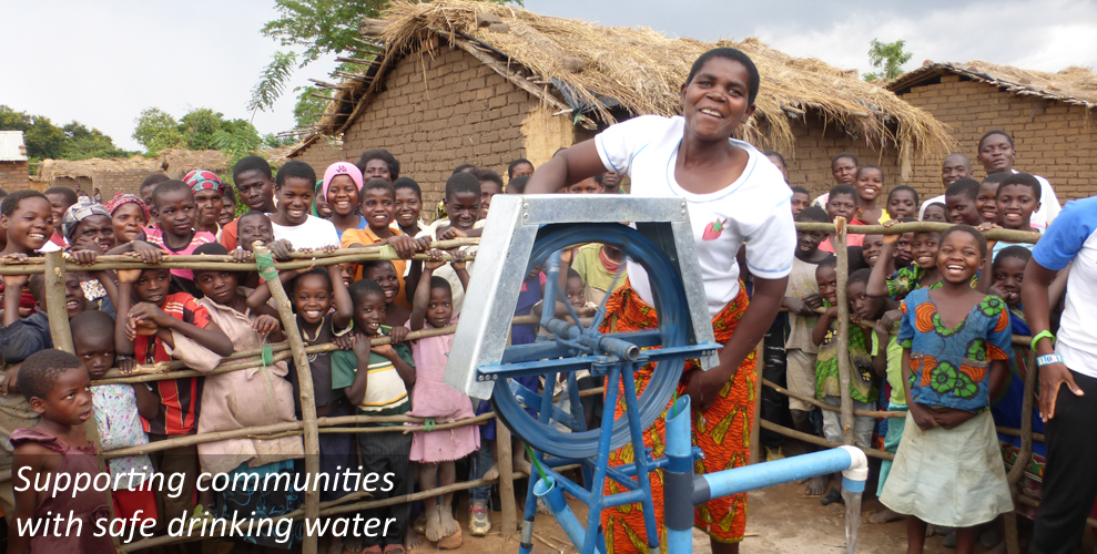 Supporting communities with safe drinking water.